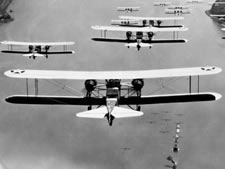 Photograph of U.S.Army Air Corps Bomber Formation, 1931
