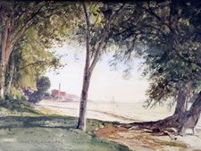 Colman Watercolor Painting of Minturn Point, 1867