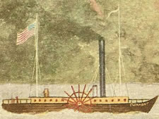 Post Card of the Clermont on the Hudson River in 1809, ca. 1909