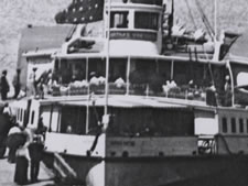 Passengers Boarding a Steamboat, ca.1890